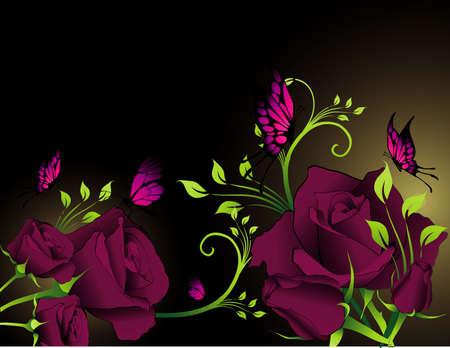 vintages: flower vector composition Illustration