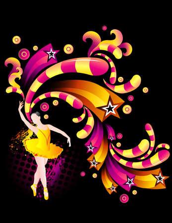 ballerina danza classica: vettore di ballerina del balletto