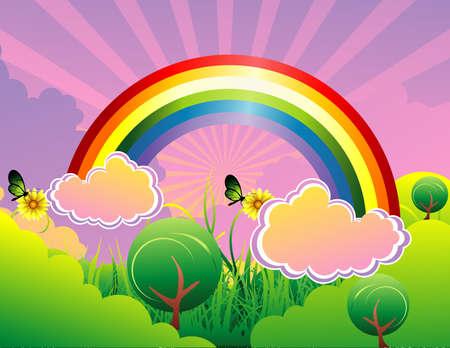 arco iris vector: ilustraci�n vectorial arco iris