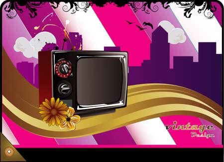 retro tv vector illustration Vector