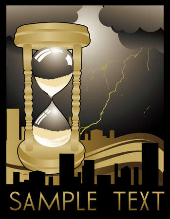 sand clock: vector de art deco de reloj de arena