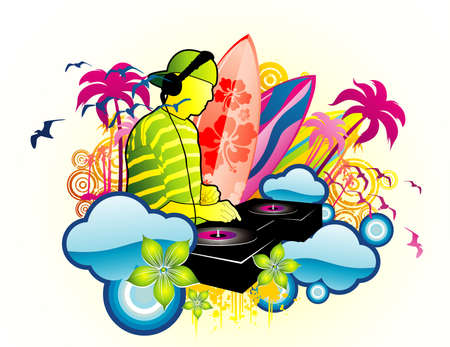 beach vector illustration Stock Vector - 6059422
