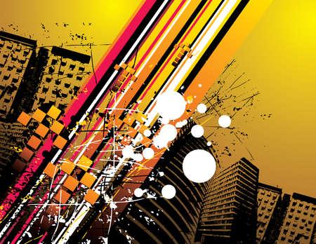 city grunge vector illustration
