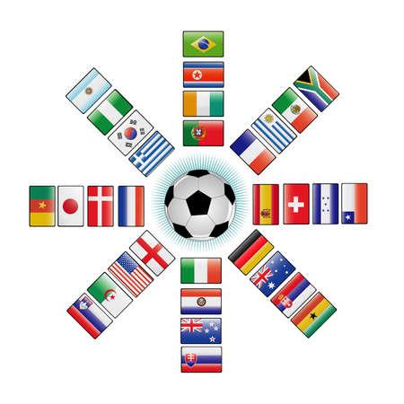 bandera de honduras: banderas de la Copa del mundo 2010 Vectores