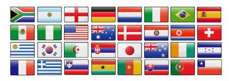 drapeau portugal: indicateurs de la Coupe du monde 2010  Illustration