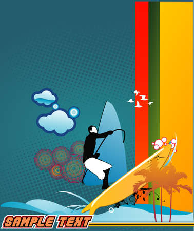 windsurf: windsurf vector illustration