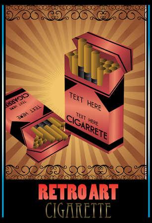 sigaretta: sigarette retr� Vettoriali