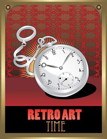 retro clock vector Stock Vector - 6570233