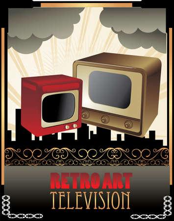retro tv vector Stock Vector - 6570231