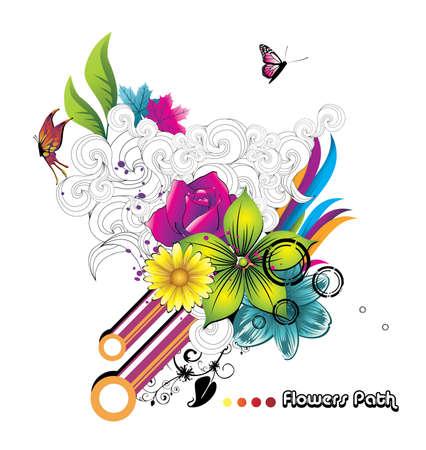 vintages: floral vector illustration