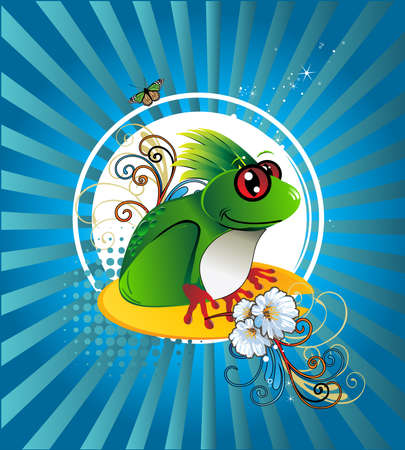 reptil: frog illustration