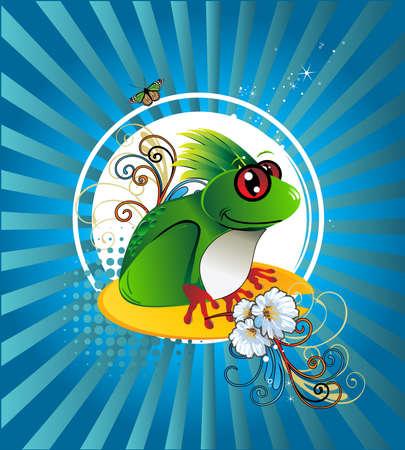 Frosch-Abbildung Standard-Bild - 6702817