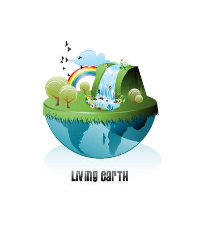 waterfall: live earth