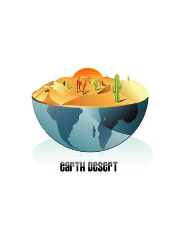 desert illustration Vector