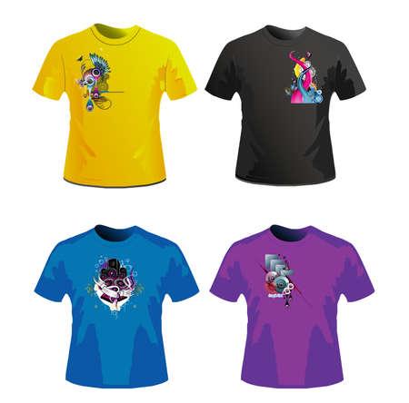 lizard: dise�o de camisetas Vectores