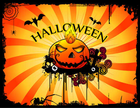 halloween pumpkin  vector Stock Vector - 7883693