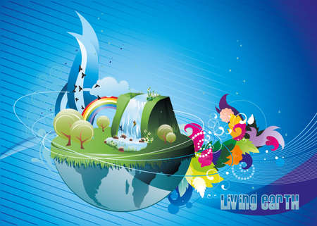 blue earth illustration Illustration