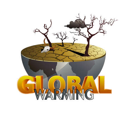 warming: global warming illustration Illustration