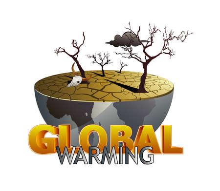 calentamiento global: Ilustraci�n del calentamiento global  Vectores