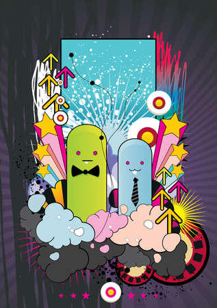 cartoon abstract character Stock Vector - 8519871