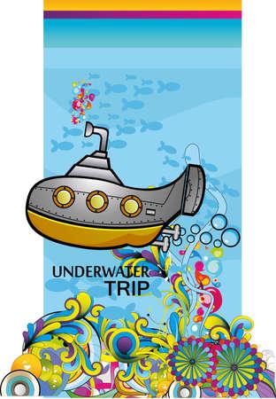 submarine fantasy vector ilustration Stock Vector - 9384019