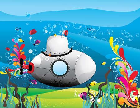 submarine vector illustration
