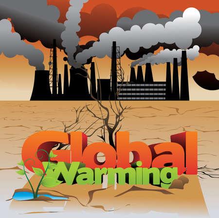 actual: global warming vector illustration