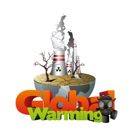 warming: global warming vector illustration