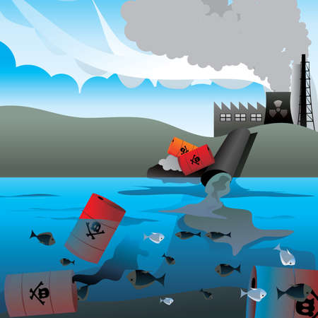nuclear waste: ilustraci�n vectorial de residuos nucleares Vectores