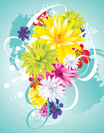 flower vector composition Stock Vector - 9721849