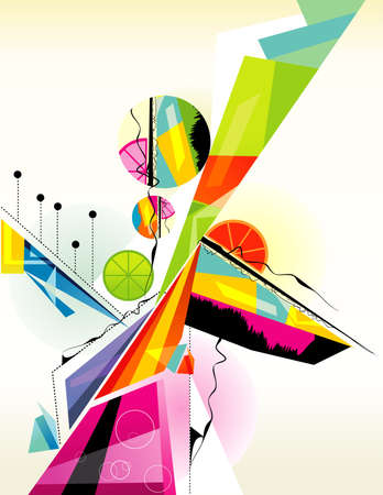 actual: abstract color shapes Illustration