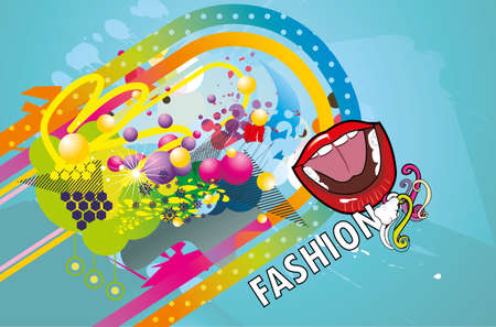 color fashion vector Stock Vector - 13833951