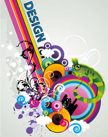vintages: design abstract color vector