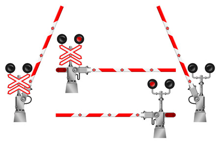 railroad crossing: gate railway crossing