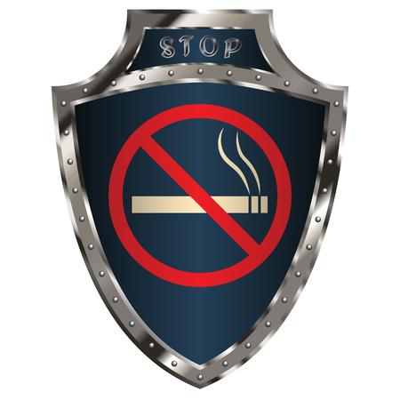 simbol: shield with anti-smoking simbol