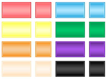 Vector illustration of square buttons Vector