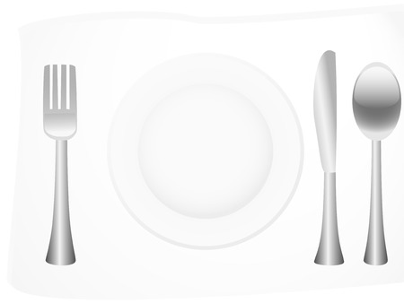 Vector illustration of silver flatware Vector