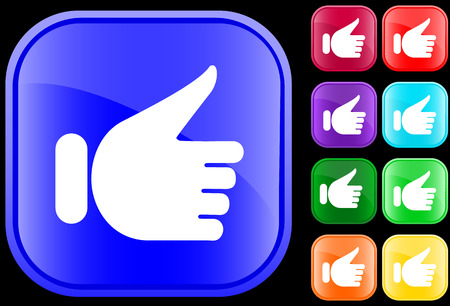 Hand gesture of approval Stock Vector - 3009192
