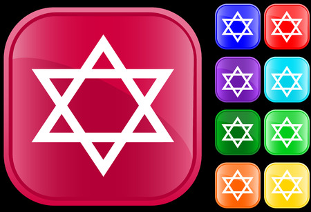 Star of David, icon and symbol of the Jewish faith Stock Vector - 3058017