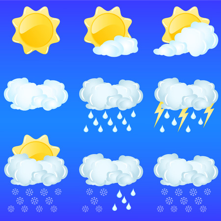 Weather icons for day forecasting Stock Vector - 3070125