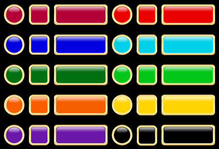 Vector illustration of glossy buttons