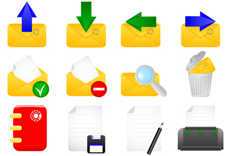Vector illustration of e-mail icons