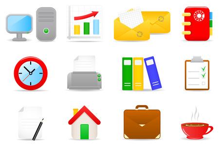 Vector illustratie van kantoor-iconen