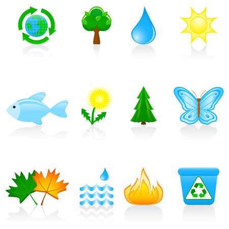 Vector illustration with environmental icons Фото со стока - 3145439