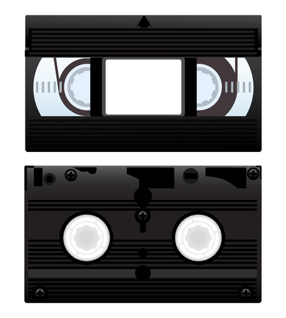 recorded: Vector illustration of a video cassette