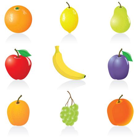 Stel met fruit iconen