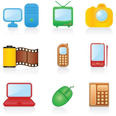 Set met media-iconen