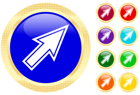 acute angle: Mouse cursor icon on shiny buttons