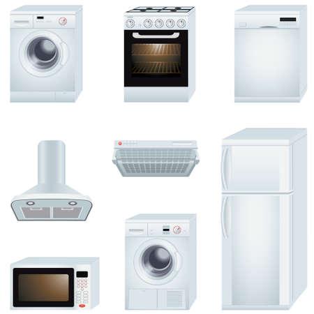 home appliances: Ilustraci�n vectorial de electrodom�sticos Vectores