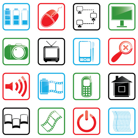 Vector illustration of Internet icons